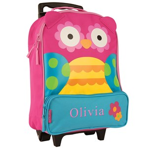 Personalized Owl Rolling Luggage Bag | Personalized Kids Luggage