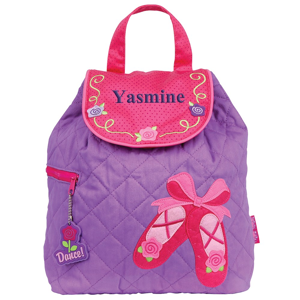Embroidered Backpack for Girls | Personalized Ballet Bag