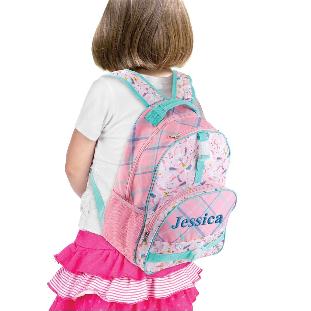 Embroidered Backpack | Unicorn Kids Personalized Backpack
