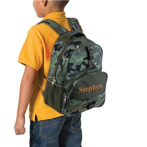 Camo Embroidered Backpack | Kids Embroidered Bookbag