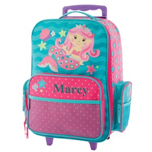 Embroidered Mermaid Rolling Luggage E000469