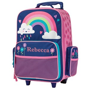 Embroidered Rainbow Rolling Luggage E000471