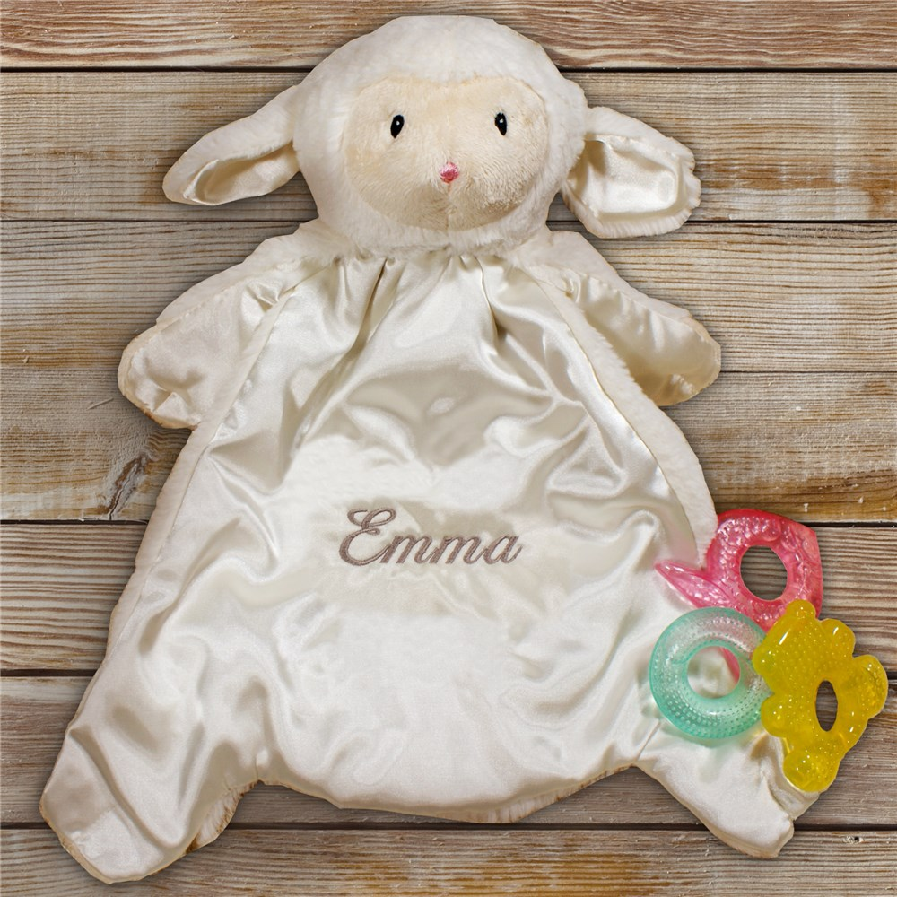 Personalized Baby HuggyBuddy Lamb Blanket | Personalized Baby Gifts
