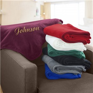 Embroidered Any Name Micro Plush Throw | Personalized Blankets