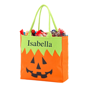 Personalized Jack O' Lantern Halloween Tote