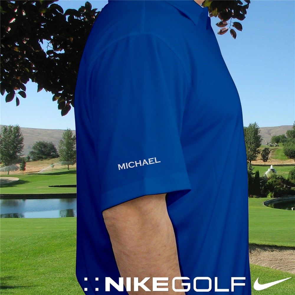 Personalized Nike Dri-Fit Photo Blue Polo Shirt | Personalized Grandpa Gifts
