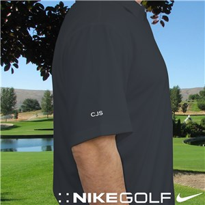 Personalized Nike Dri-Fit Dark Gray Polo Shirt E10886199X