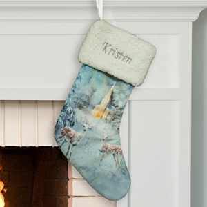 Embroidered Deer Winter Wonderland Stocking | Personalized Stockings