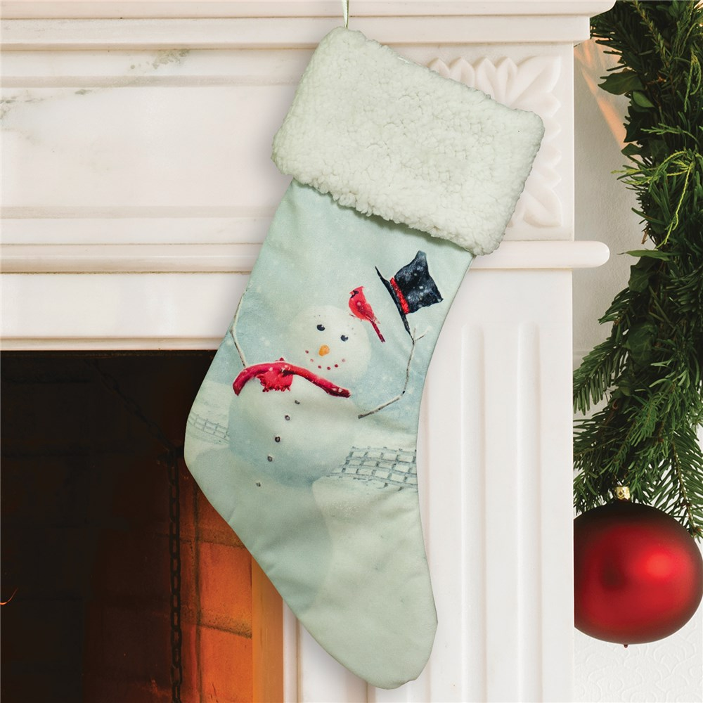 Snowman Winter Wonderland Stocking | Christmas Stockings