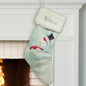 Embroidered Snowman Winter Wonderland Stocking | Personalized Stockings