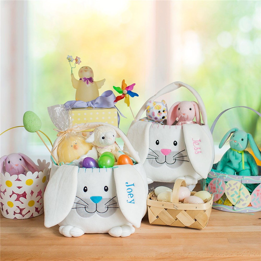 Plush Bunny Basket | Personalized Easter Baskets