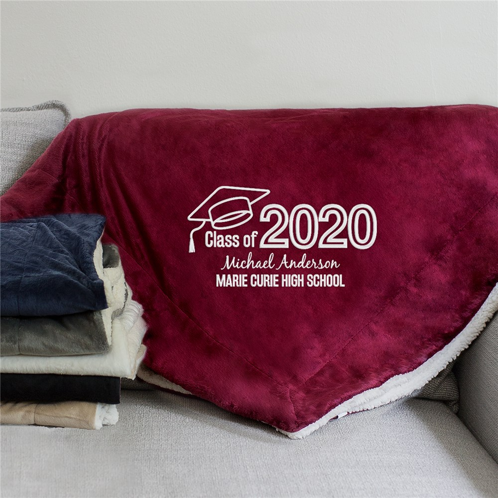Personalized Graduation Gifts | Embroidered Blankets