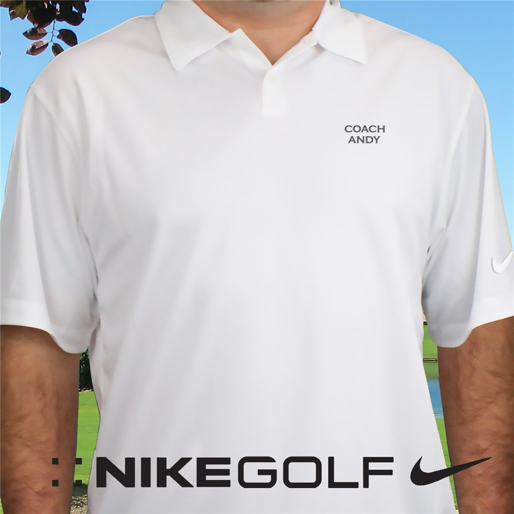 Embroidered Name Nike Dri-FIT Golf Polo | Personalized Nike Golf Shirts