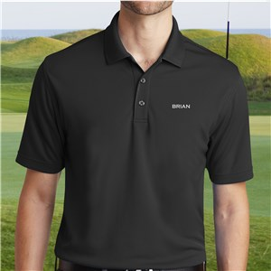 Personalized Port Authority Black Polo Shirt | Personalized Polo Shirts