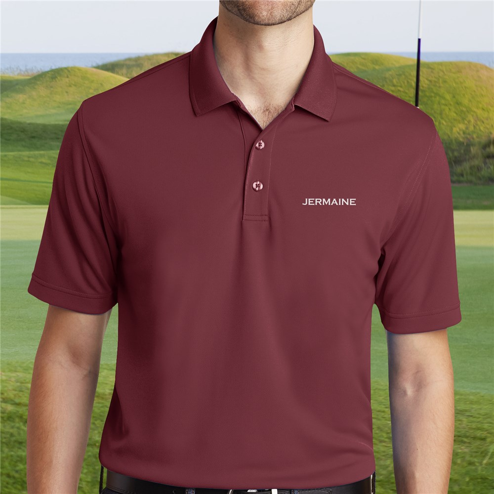 Personalized Port Authority Burgundy Polo Shirt | Personalized Polo Shirt