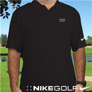 Embroidered Name Nike Dri-FIT Black Golf Polo Shirt | Personalized Nike Golf Shirts