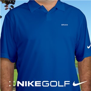 Embroidered Name Nike Dri-FIT Photo Blue Golf Polo | Personalized Nike Golf Shirt