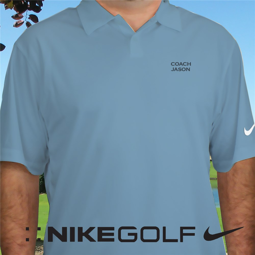 Embroidered Name Nike Dri-FIT Light Blue Polo Shirt | Embroidered Golf Shirts