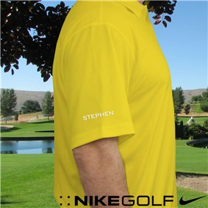 Embroidered Nike Dri-FIT Yellow Polo E13103199X