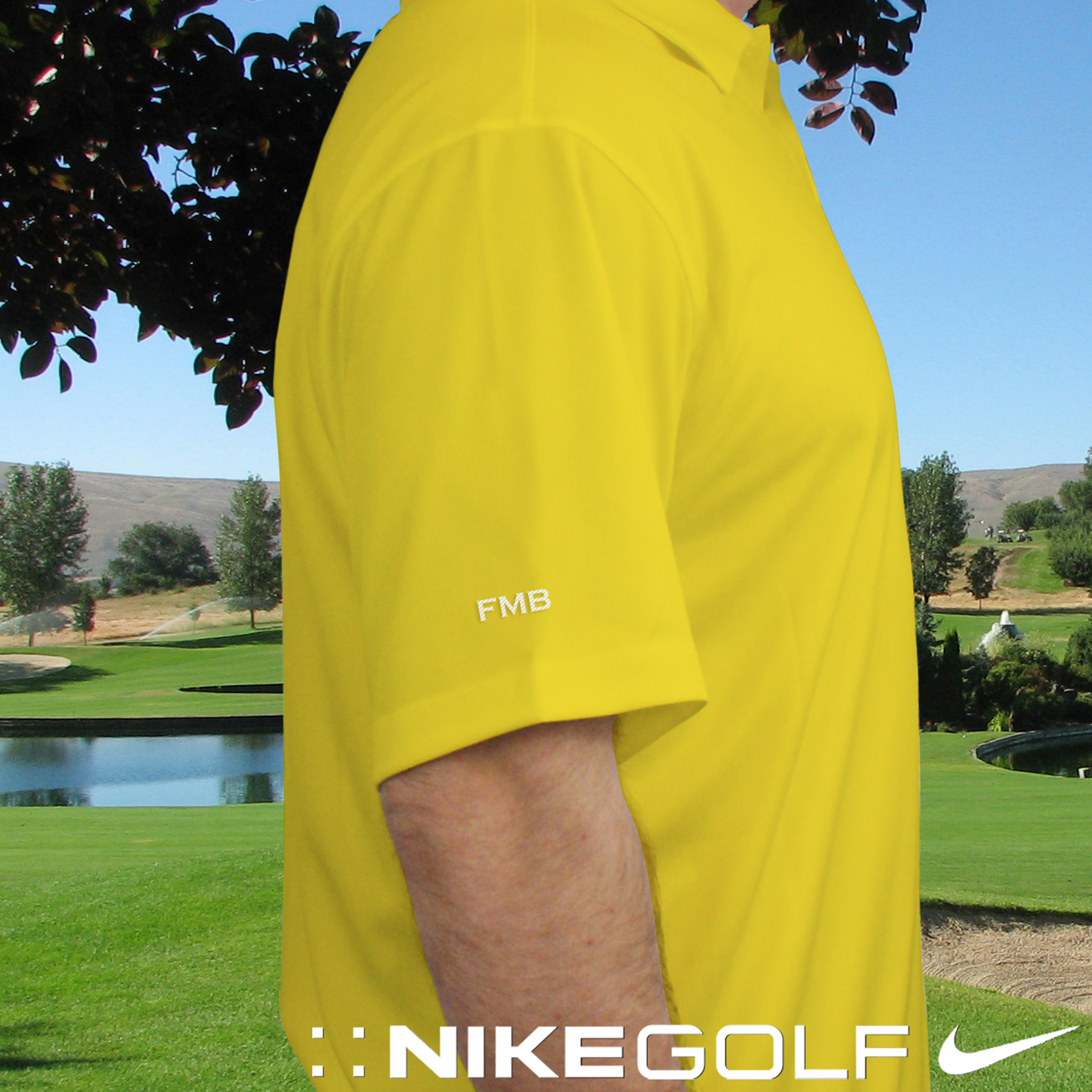 Embroidered Nike Dri-FIT Yellow Polo | Personalized Polo Shirts For Him