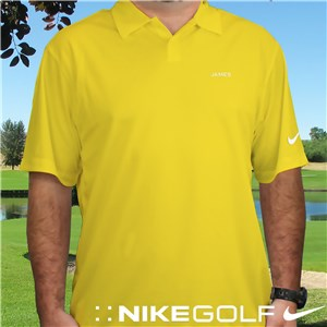 Embroidered Name Nike Dri-FIT Yellow Polo E13104199X