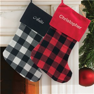 Buffalo Plaid Stocking | Big Plaid Stockings