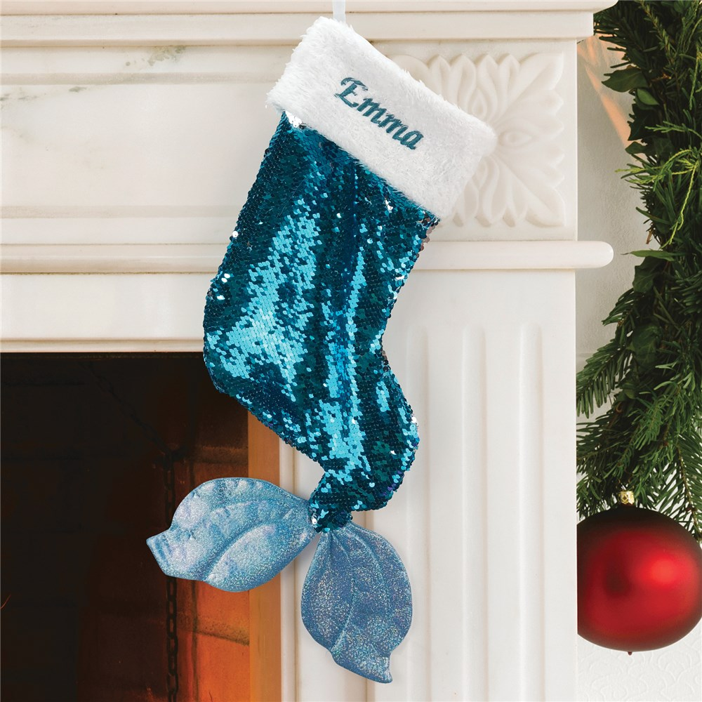 Sequin Stocking | Mermaid Stocking