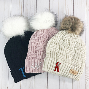 Cable Knit Hats | Embroidered Winter Hats
