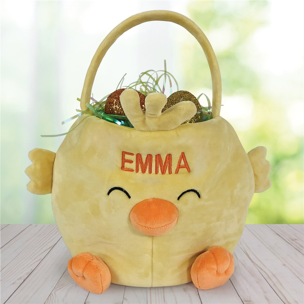 Easter Chick Basket | Plush Easter Baskets
