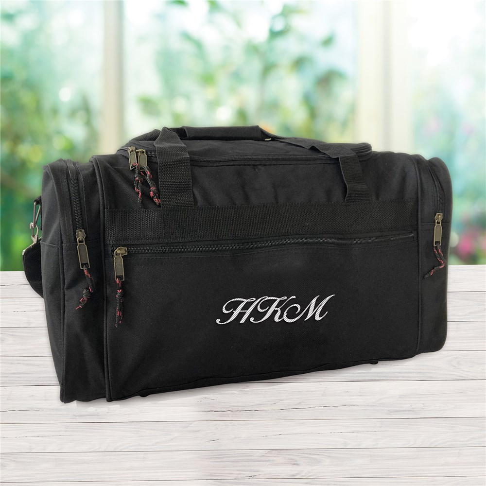 Personalized Travel Duffel Bag | Travel Duffel With Initial