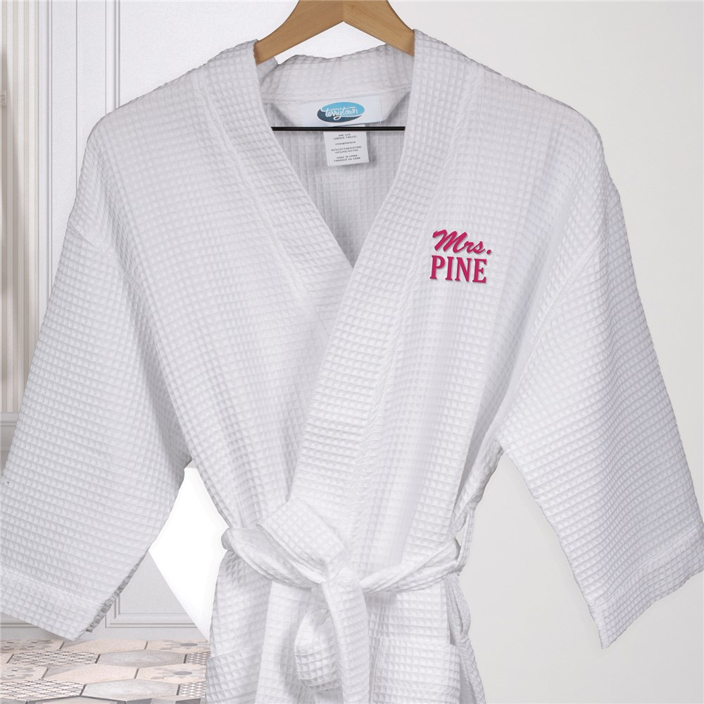 Embroidered Robes | Mrs Name Personalized Robe