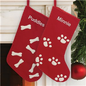 Personalized Pet Stocking | Embroidered Christmas Stockings for Pets