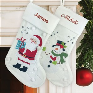 Embroidered Festive Character Stocking E15565450X