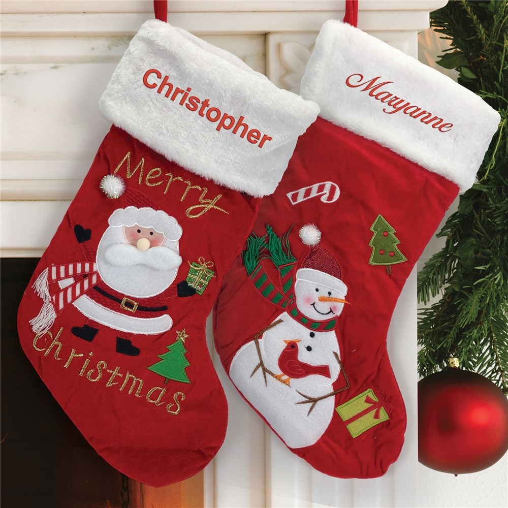 Embroidered Christmas Stocking | Christmas Stockings For Kids