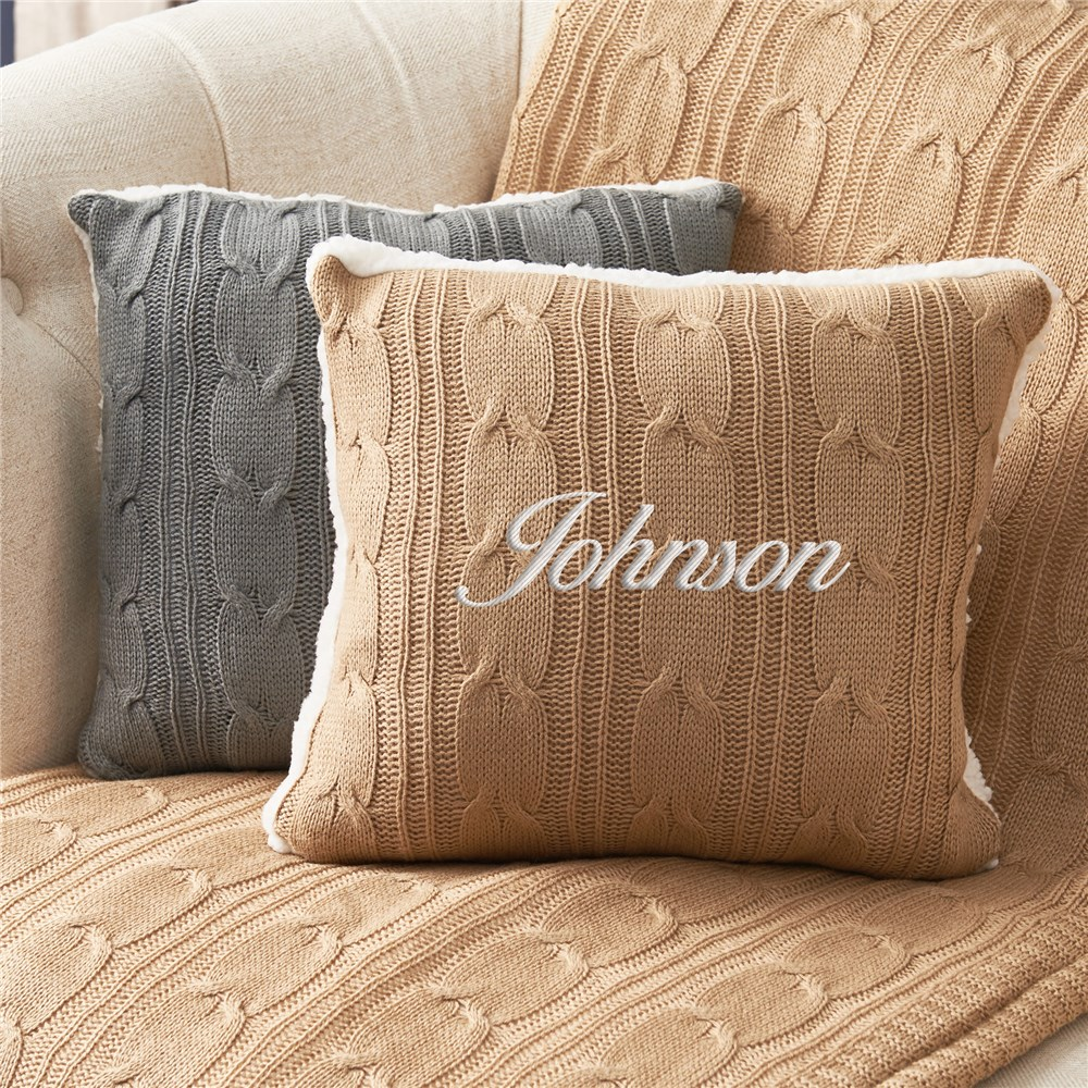 Embroidered Pillow Sham | Pillow Sham with Name