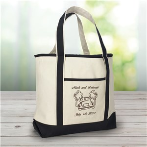 Embroidered Honeymoon Beach Tote Bag