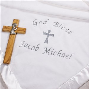 Embroidered Christening Blanket | Personalized Baby Blankets
