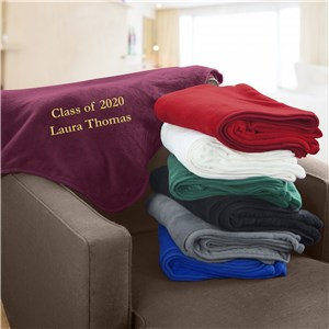 Embroidered Class of Micro Plush Throw | Graduation Gifts