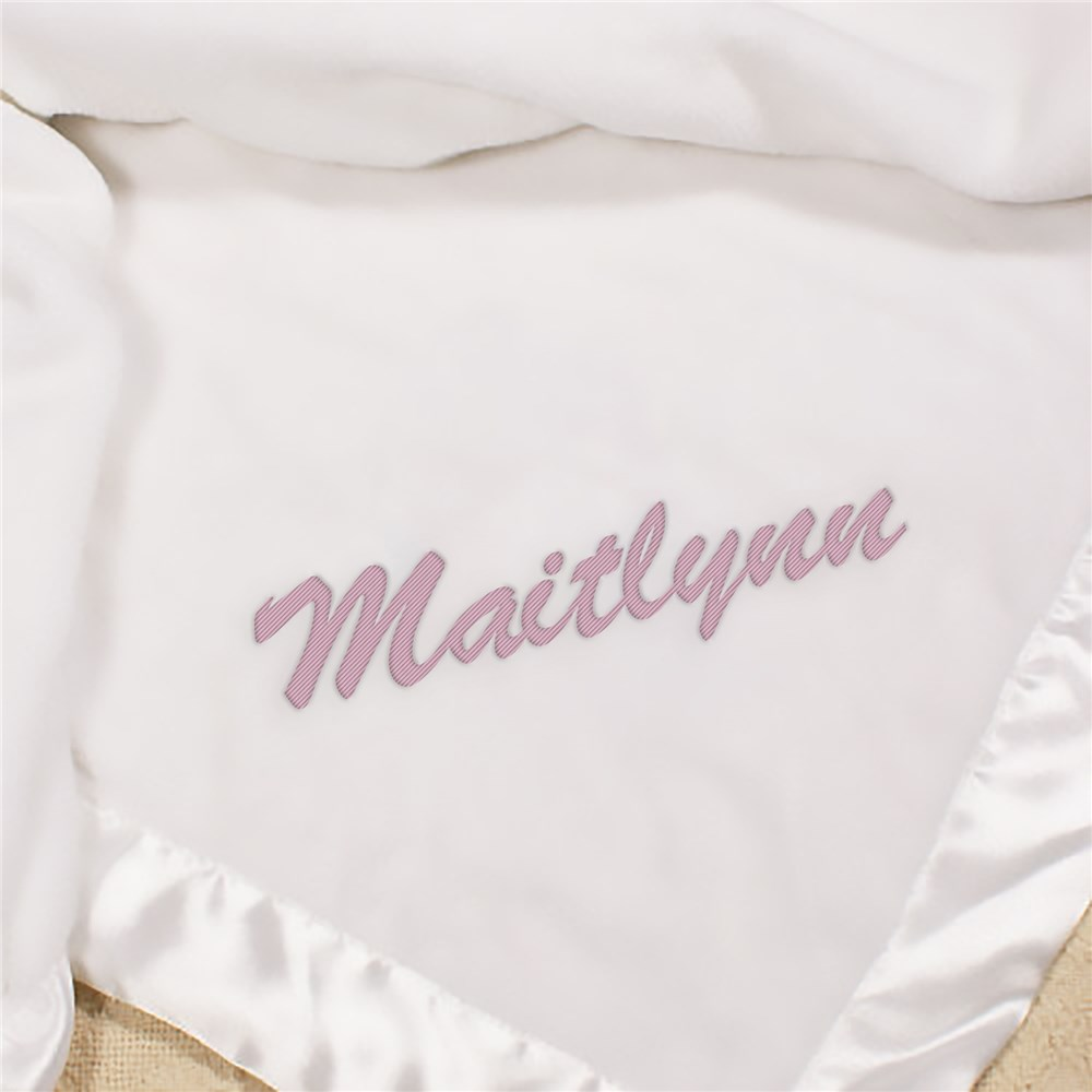 Name or Initial Embroidered Baby Fleece Blanket | Personalized Baby Blankets