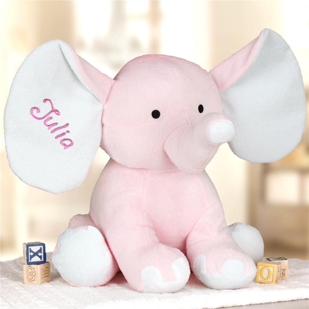 Embroidered Blue Polka Dot Elephant | Personalized Stuffed Animals