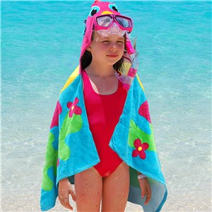 Personalized Beach Towels For Kids | Embroidered Hooded Beach Towel