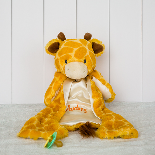 Embroidered Giraffe HuggyBuddy | Unique Baby Gifts