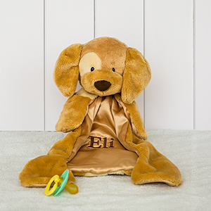 Embroidered Beige Spunky Puppy | Unique Baby Gifts