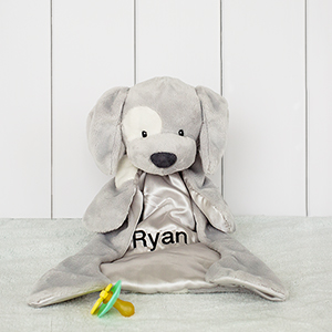 Embroidered Gray Spunky HuggyBuddy | Personalized Baby Gift