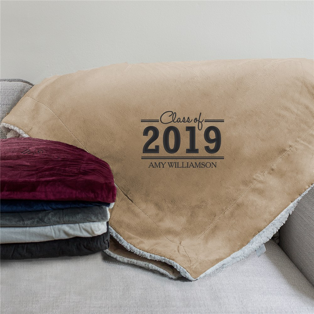 Graduate Embroidered Sherpa Blanket | Graduate Gifts