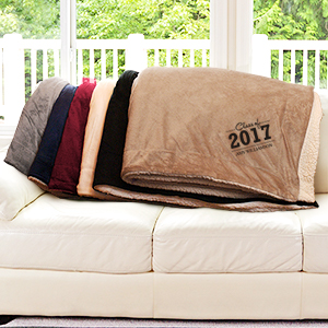 Graduate Embroidered Sherpa Blanket