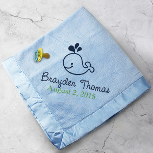 Embroidered Fleece Baby Blanket E9640185X