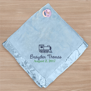 Embroidered Fleece Baby Blanket | Unique Baby Shower Gifts