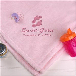 Personalized Baby Girl Fleece Blanket | Personalized Baby Blankets