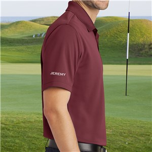 Personalized Burgundy Port Authority Polo Shirt | Personalized Polo Shirts